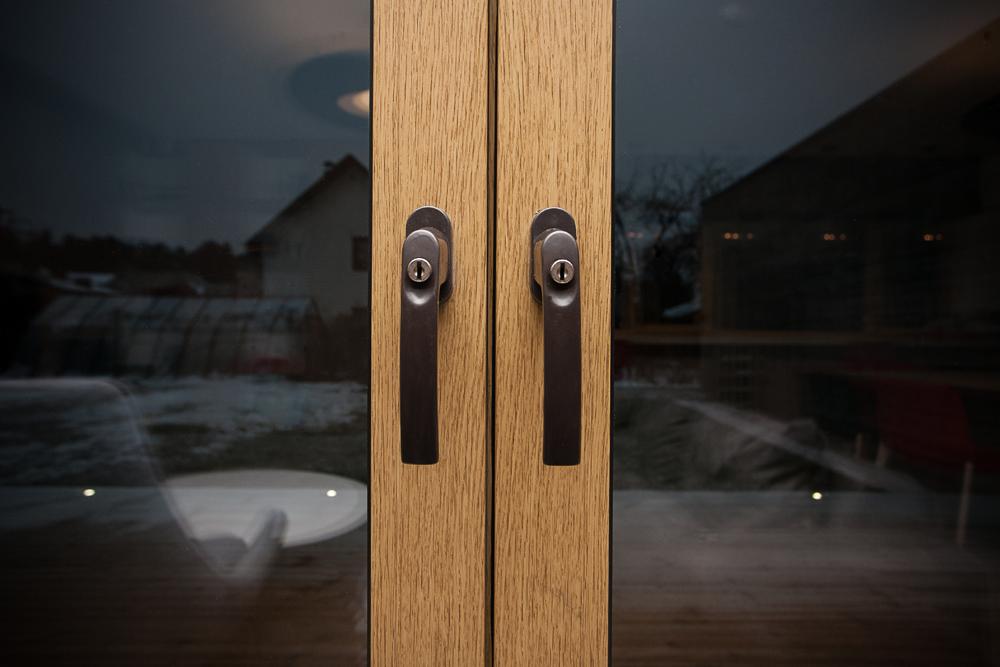 Upvc Windows With Wood Grain Finish Megrame
