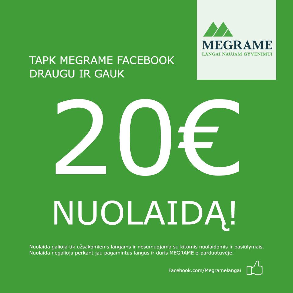 MEGRAME Facebook draugų akcija