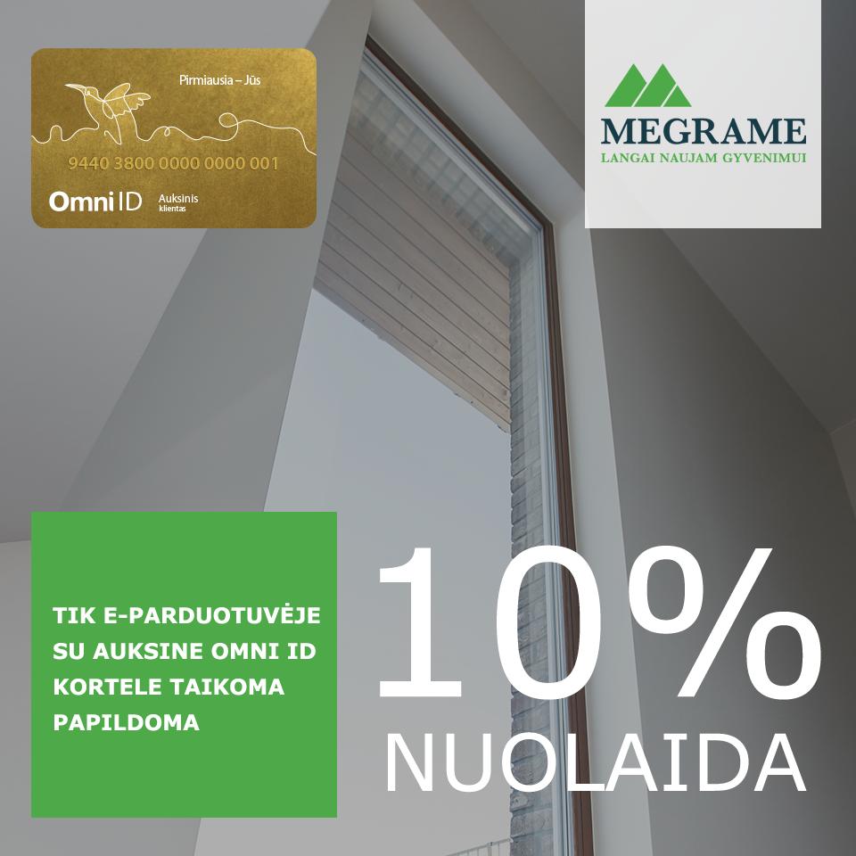Specialus MEGRAME pasiūlymas su OMNI ID auksine kortele