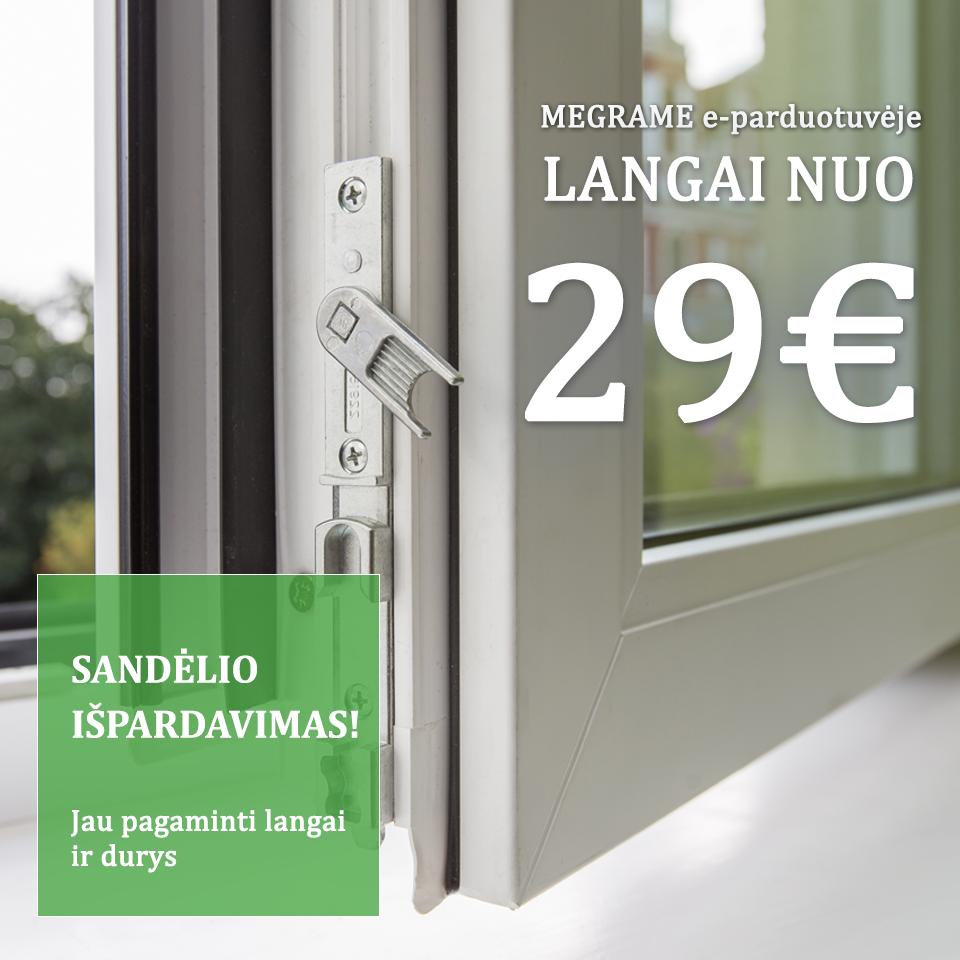 MEGRAME langų ir durų išpardavimas!