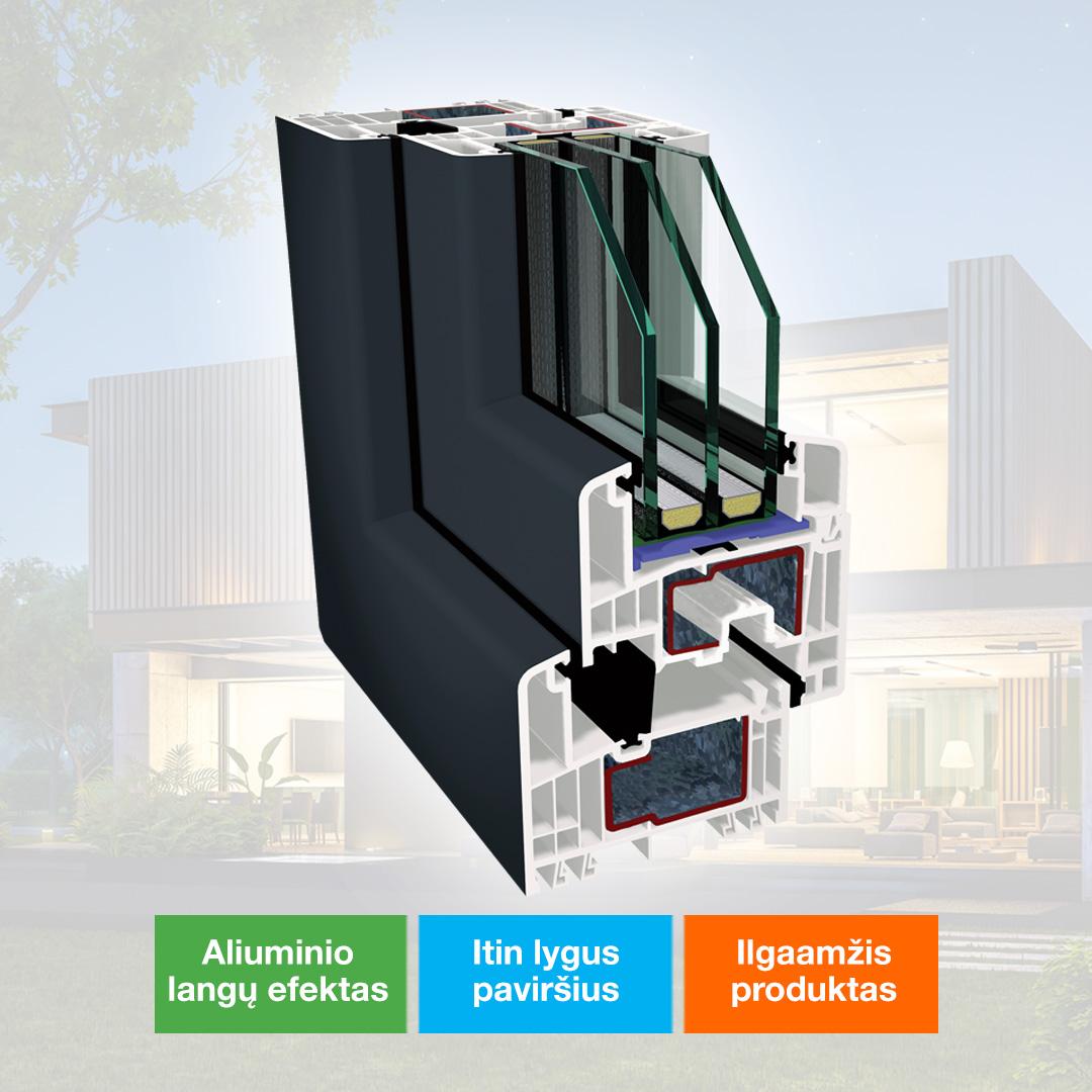Spalvoti MEGRAME® ACRYLCOLOR plastikiniai langai